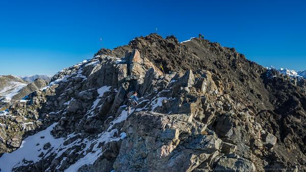 The summit ridge!