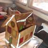 Gingerbread house in progress