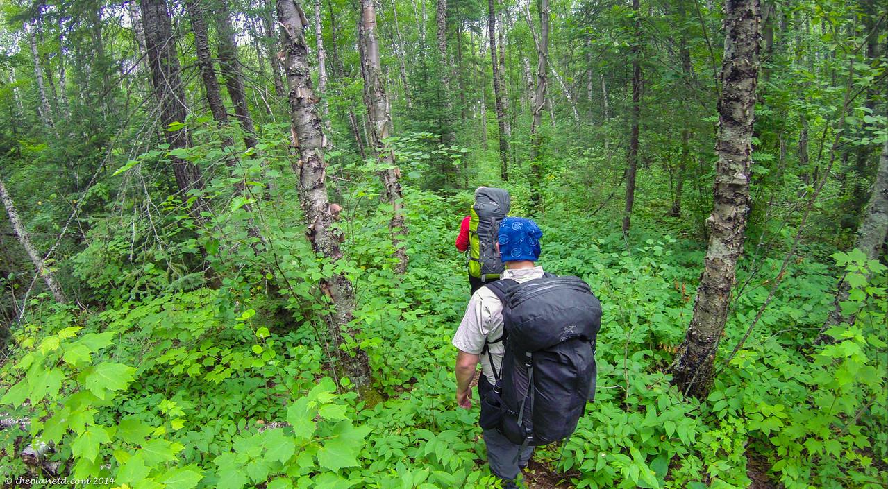 Pukaskwa coastal trail markers