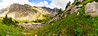 This is a huge panorama file (12,000px wide), sharing on the internet is almost unjust to the three significant mountain summits in this shot (Silver Run - Mt. Lockhart - Whitetail).
