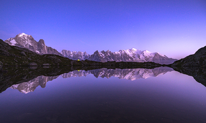 Perfect Reflections on a lake near Mount Blanc, France 2019