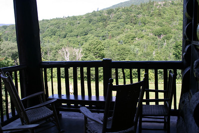 View from the guest porch of the Lodge.