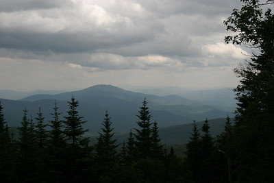 The view from half way up Mt. Moosilauke.