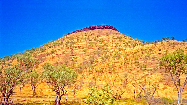 Hill on Gibb River Road in NT