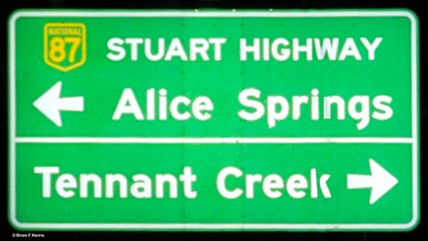 Alice Springs sign