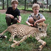 Bede and Emmett and a cheetah