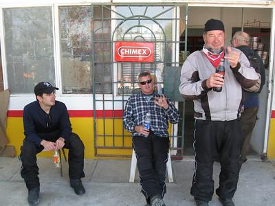 Enjoying a cold drink at El Rebaje