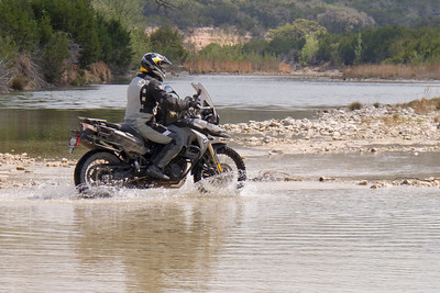 Tommi'e 800GS earning it's water wings.
