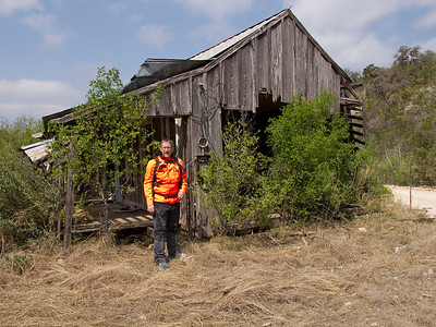 This old shack is an icon of the Texas dual sport community.  You must have your picture taken by this old place if you are a Texas adventure rider.  That's the rule.