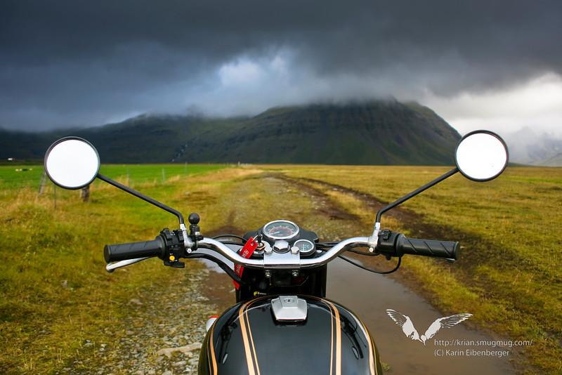 Riding through south Iceland.