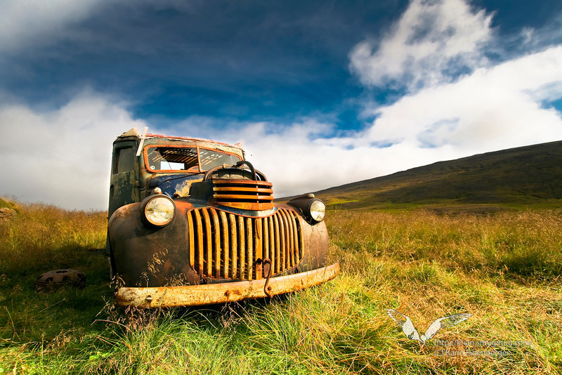 An old deserted Chevrolet in the middle of nowhere, North-east Iceland.