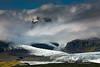 Vatnajökull glacier and glacial lagoon of Breiðamerjökull.