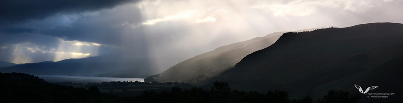 Strong light, typical Scottish weather.