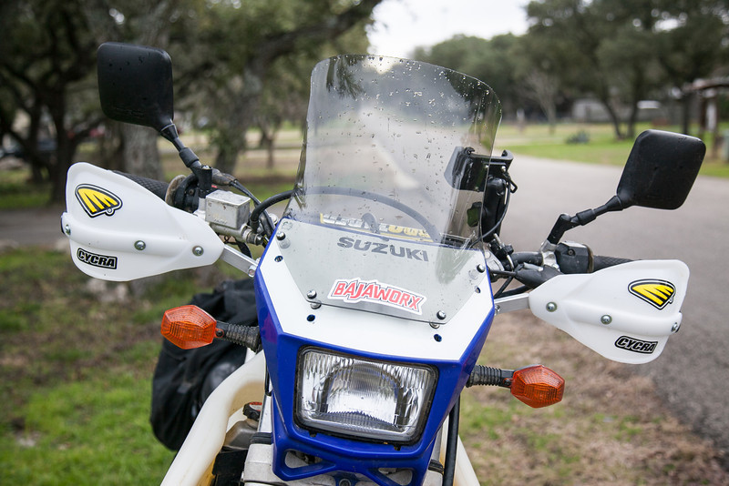 Wind management – adding a windscreen to the DRZ – Texas