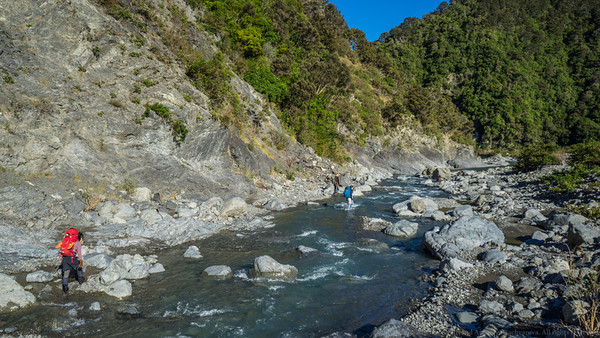 Making our way down the Kowhai River.