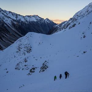 The climb to White Col.