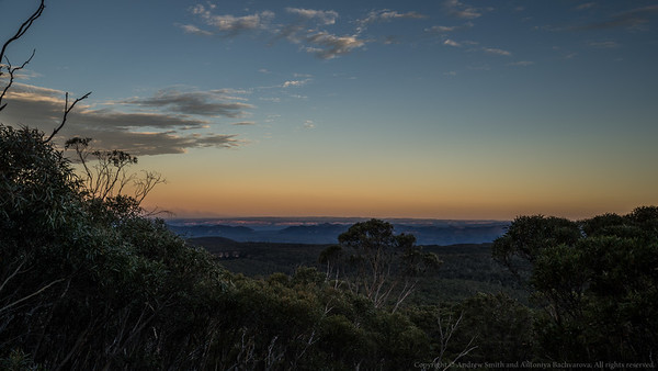 Evening light on the Blue Breaks.