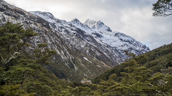 First view of Edwards Hut.