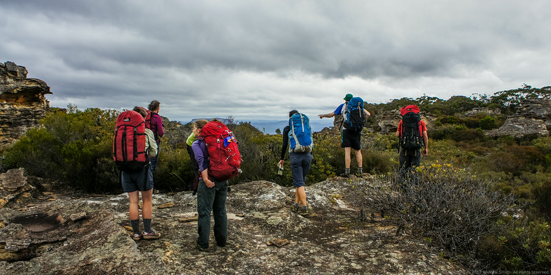 We emerge on the tops and have our first look around.