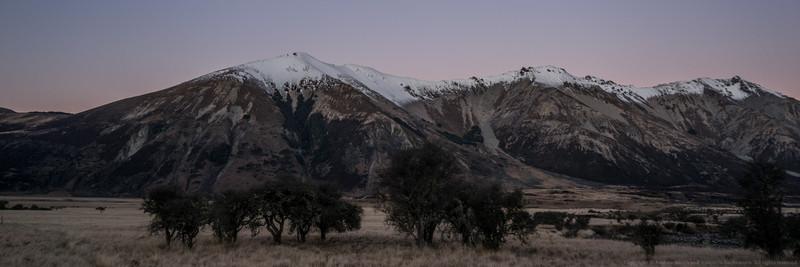 Evening light on the hills.