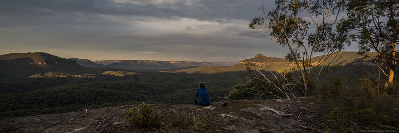 Magnificent views of Zucchetti Head, Vengeance Peninsula, Bull Island Peak, Lacys Tableland and Yerranderie Peak from our amazing second campsite.