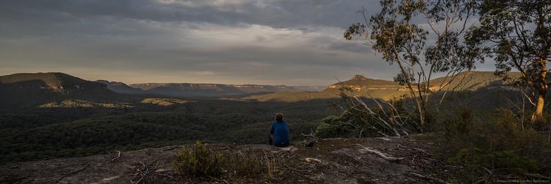Magnificent views of Zucchetti Head, Vengeance Peninsula, Bull Island Peak, Lacys Tableland and Yerranderie Peak from our amazing second campsite.