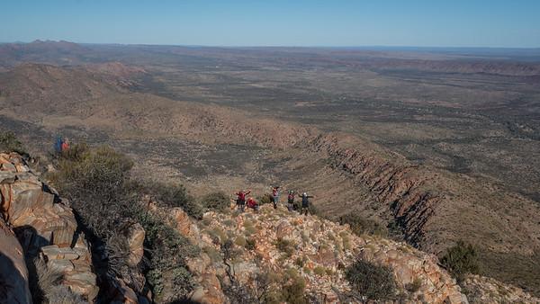 Descending the ridge off Mount Sonder towards Rocky Bar Gap.