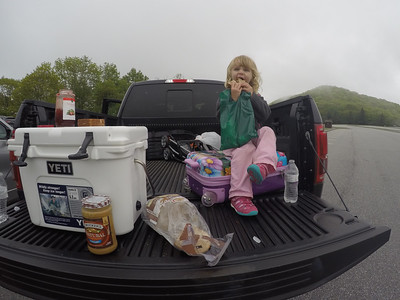 Snack time at Brasstown Bald.
