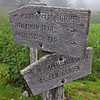 Trail marker leading up to the Mount Rogers summit