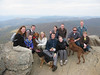 the group on top of St. Marys rock for Jeremy & Mega.s engagement party hike