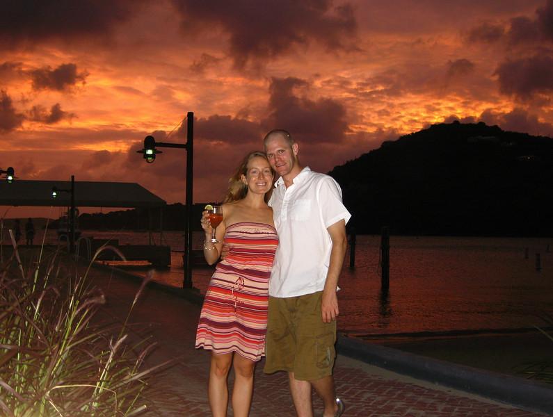 Dave and Sarah at Cruz Bay dock