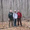 Dave Nikhil and Matt at Barbed Wire Cabin - (like Ridgeside only a hole with a washpan in it remains)