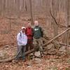 Nikhil, Matt and I in front of Chimney Cabin