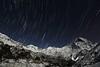 Stars above Fishtail. Annpurna Base Camp Trek.