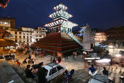 Durbar Square at night, Kathmandu.
