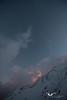 Sunset in ABC. Annpurna Base Camp Trek.