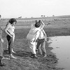 Redbank Plains DZ. Quita few guys have been bundled into the dam after landing on their first freefall. Clothes & all.