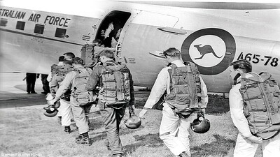 Boarding for 12,000 ft at Laverton in Victoria. Free.