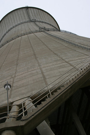 Cooling Tower #1.  The concrete at the waist is only a foot thick.