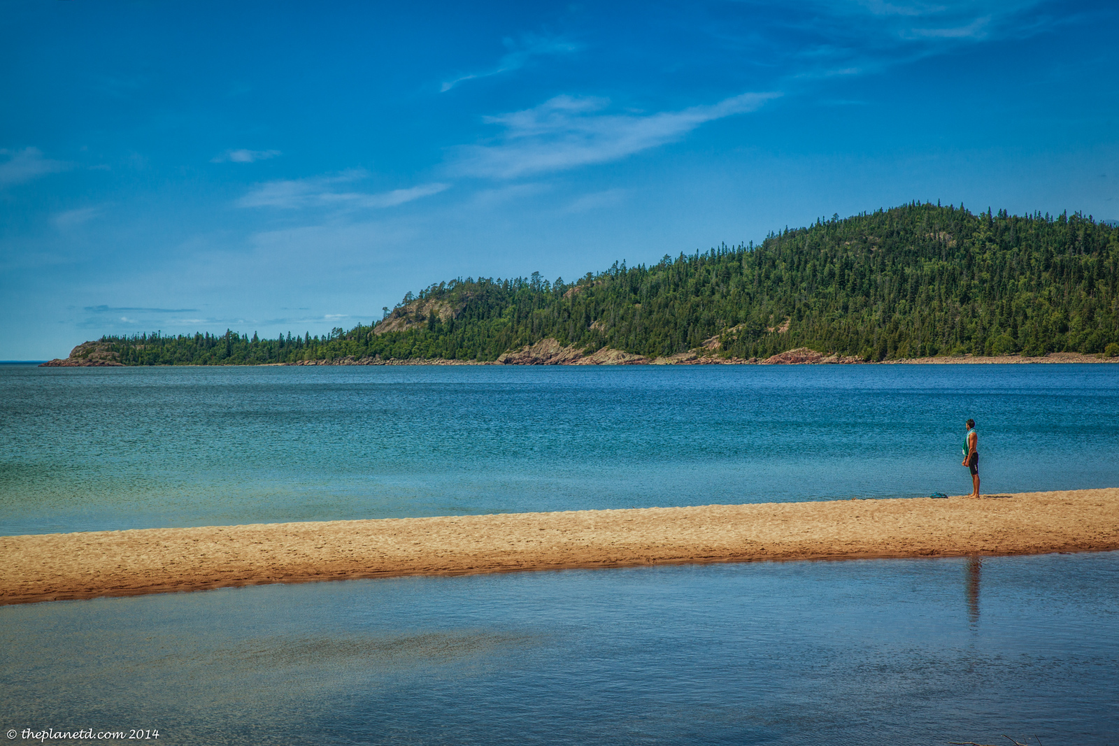 The beach at Old Woman Bay