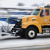 Snow plows cleaning up the streets in Bethesda