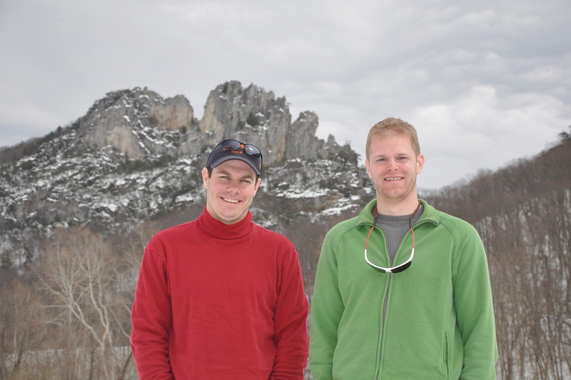 Brad and I at Seneca Rocks