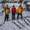 Three tough back country skiers depart Dead Horse Gap.