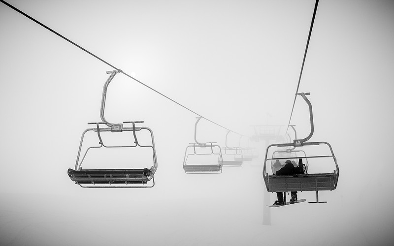For the Love, Foggy chairlift Kitzbühel, Austria 2017, Moe Lauinger