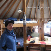 Sarah is all packed and ready to head out.  The yurt is ready for the next group.