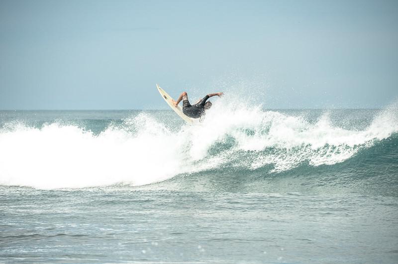 Slashin, Surfing the beachbreak of Playa Guasacate, Nicaragua 2014