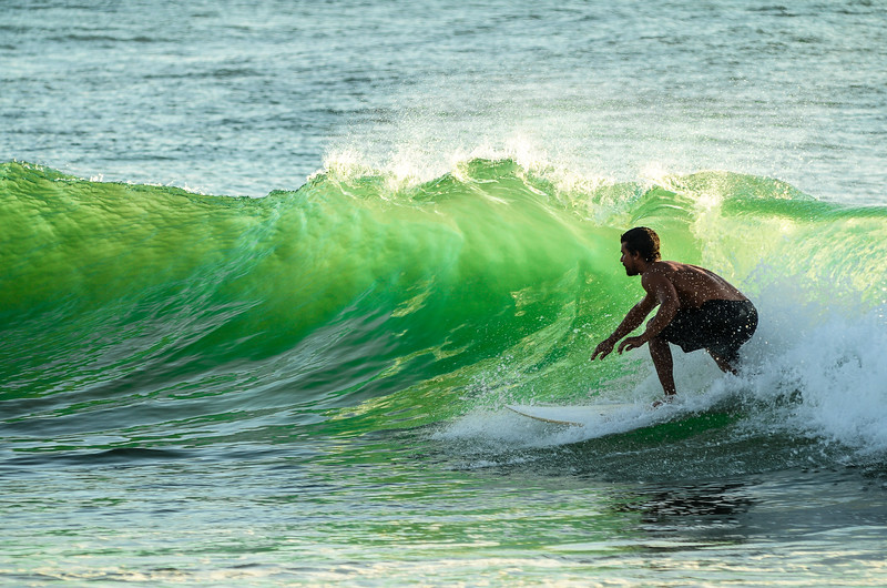 Greenroom, Sunset surf session, Lighthouse Bay, Sri Lanka 2014