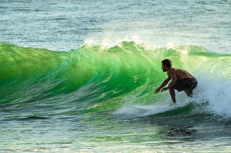 Greenroom, Sunset surf session, Lighthouse Bay, Sri Lanka 2014