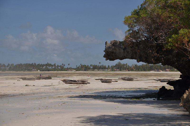 Erosion along the shoreline, the tide washed in and out dramatically, leaving long expanses of pools.