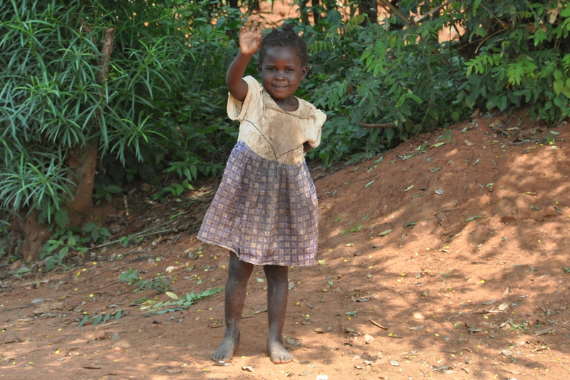 While visiting rural hospitals north of Jinja Uganda we found a welcoming local whose favorite activity of the day was to chase her little brother around.